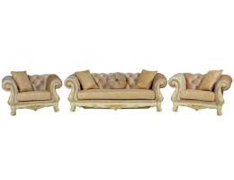 Комплект мягкой мебели Ассоль крем (ткань золото)