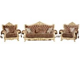 Комплект мягкой мебели Эсмеральда, крем (ткань беж)