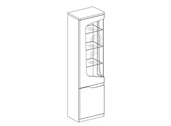 Эвора, Шкаф с витриной 1V1D L