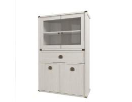 Шкаф с витриной 2V2D1SL Магеллан (сосна винтаж)
