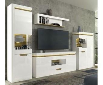 Мебель для гостиной Торино, белый/Дуб наварра
