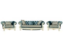 Комплект мягкой мебели Ассоль, крем (ткань бирюза)