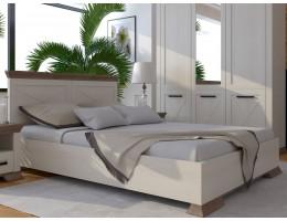 Кровать двухспальная MARSELLE LOZ160х200, в цвете ясень снежный/дуб сонома