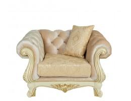 Кресло Ассоль, крем (ткань золото)