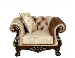 Кресло Ассоль, орех (ткань золото)