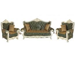 Комплект мягкой мебели Эсмеральда, белый нефрит