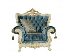 Кресло Эсмеральда, крем (ткань бирюза)