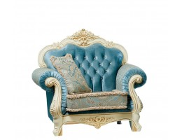 Кресло Илона, крем (ткань бирюза)