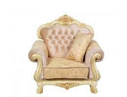 Кресло Илона, крем (ткань золото)