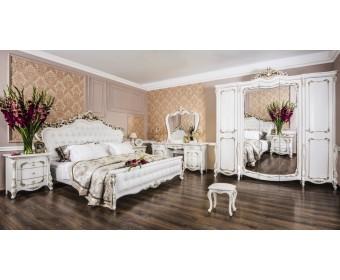 Спальный гарнитур Анна Мария, белый матовый