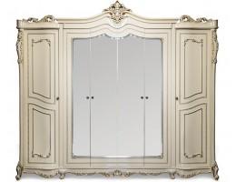 Шкаф 6-створчатый Джоконда (крем глянец)