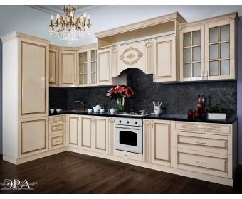 Модульная кухня Верона угловая, крем глянец